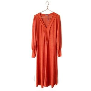 Zara | Rust Maxi Dress Large